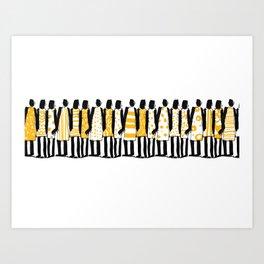 Black people Art Print