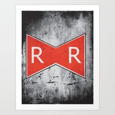Red Ribbon Army Art Print