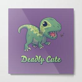 Deadly Cute Raptor Metal Print