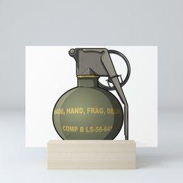 Hand Grenade Army Gift Ideas Mini Art Print