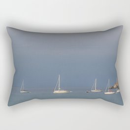 seascape: sei barche a S'ant Angelo Rectangular Pillow