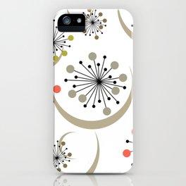 Midcentury Starbursts 2A iPhone Case