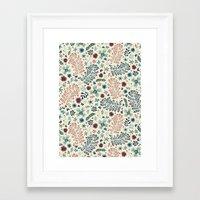 flora Framed Art Prints featuring Flora by Anna Deegan