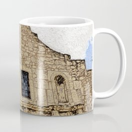 The Alamo Under Clear Skies Coffee Mug