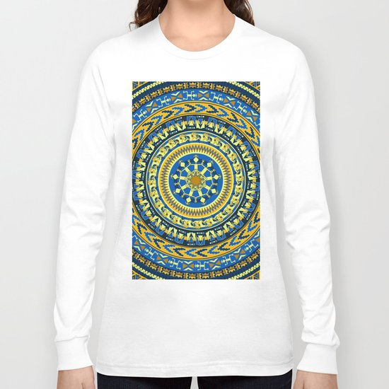 Tribal Aztec Round Long Sleeve T-shirt