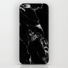 Black Marble I iPhone Skin