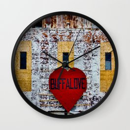 Buffalo Love Wall Clock