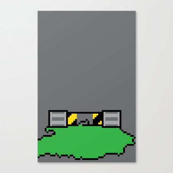 Teenage Mutant Ninja Pixels Canvas Print