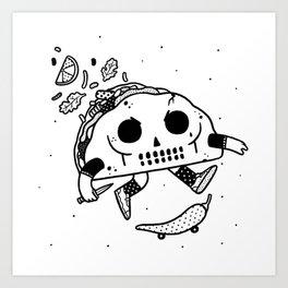 Al Pastor chili-flip Art Print