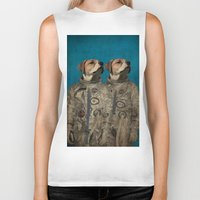 outer space Biker Tanks featuring Journey into outer space by Durro