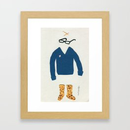 Outfit for Staying at Home Framed Art Print