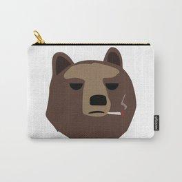 Smoking gopnik Kamchatka brown bear Камчатский бурый медведь (Far Eastern brown bear) Carry-All Pouch