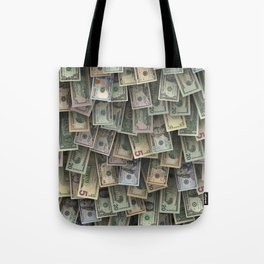 US dollars all over cover Tote Bag