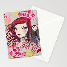 Red Owl Gal Stationery Cards