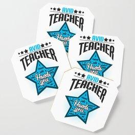 Avid Teacher Teaches Profession Teaching Professor Educator Educating Teach Gift Coaster