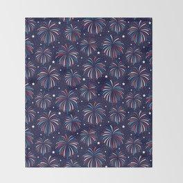 Star Spangled Night Throw Blanket