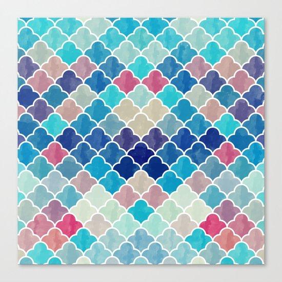 Watercolor Lovely Pattern VVXV Canvas Print