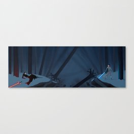 The Dark and The Light Kylo Ren vs Rey Canvas Print