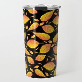 Gold Floral Pattern Travel Mug