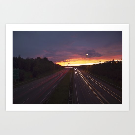 Sunset trails Art Print