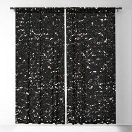 Black and white shiny glitter sparkles Blackout Curtain