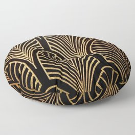 Art nouveau Black,bronze,gold,art deco,vintage,elegant,chic,belle époque Floor Pillow