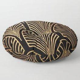 Art nouveau Black,bronze,gold,art deco,vintage,elegant,chic,belle époque Floor Pillow