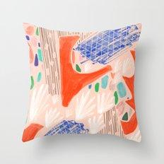 Seeing Spaces - Peach Throw Pillow