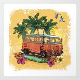 Surfing life Art Print