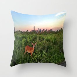 The NYC Deer Throw Pillow