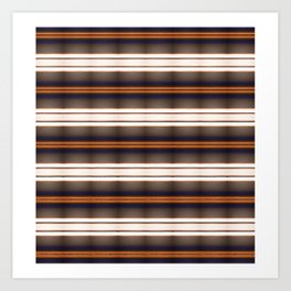 Rich Rustic Brown Stripes Art Print