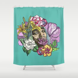 FKA Twigs, in bloom. Shower Curtain
