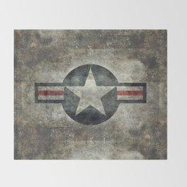 Vintage USAF Roundel Throw Blanket