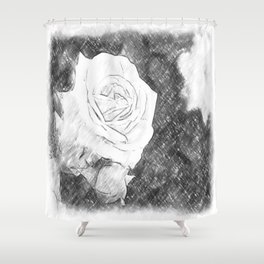 Pink Roses in Anzures 1 Charcoal Shower Curtain