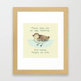 Ugly Duckling Framed Art Print
