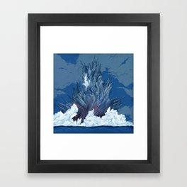 Clouds #10 Volcano Framed Art Print