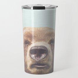 Bear Art Print, Grizzly Bear, Modern Home Decor, Bear Print, Bear Art, Animal Poster, Nature Home Decor, Animal Photo Print, Grizzly Bear Travel Mug