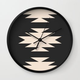 Minimal Southwestern - Charcoal Wall Clock