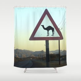 Dubai shower curtains society6 camel crossing dubai shower curtain gumiabroncs Images