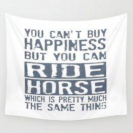 RIDE HORSE Wall Tapestry