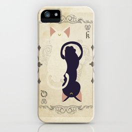 Luna & Artemis Moon iPhone Case