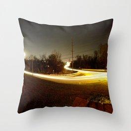 NightDrive Throw Pillow