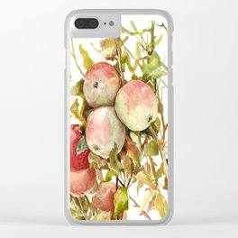 Apples, Apple Tree kitchen design illustration fruits Clear iPhone Case