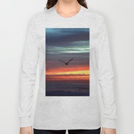 Black Gull by nite Long Sleeve T-shirt