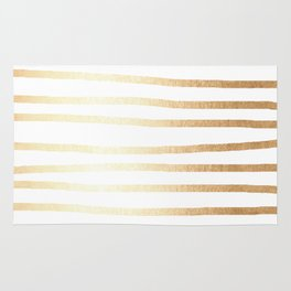 Simply Drawn Stripes Golden Copper Sun Rug