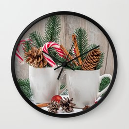 Photo Christmas 2 Lollipop Star anise Illicium Cin Wall Clock