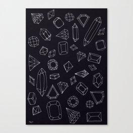 doodle crystals Canvas Print