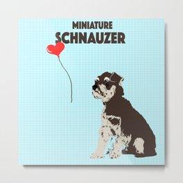 Miniature Schnauzer Dog Art Metal Print