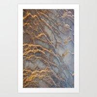 Travertine - blue gray Art Print