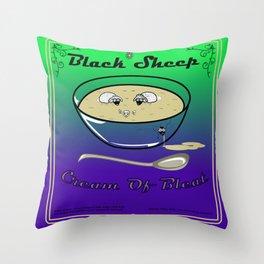 Black Sheep Cream Of Bleat Throw Pillow